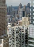 Вид с воздуха Нью-Йорка стоковое изображение