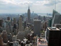 Вид с воздуха Нью-Йорка стоковое фото rf
