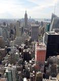 Вид с воздуха Нью-Йорка стоковое изображение rf