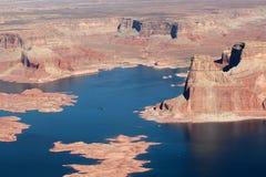 Вид с воздуха озера Пауэлл Стоковое Изображение