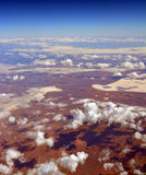 Вид с воздуха озер & пустыни соли на Glendambo, Австралии Стоковые Изображения