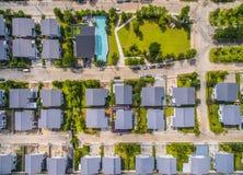 Вид с воздуха домашней деревни Стоковые Фотографии RF