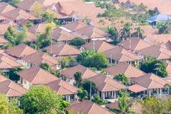 Вид с воздуха домов стоковая фотография rf