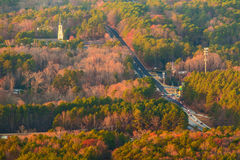 Вид с воздуха дороги Hugh Howell, Georgia, США стоковое фото