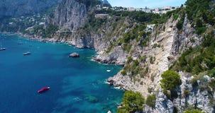 Вид с воздуха острова Капри сток-видео