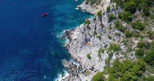 Вид с воздуха острова Капри видеоматериал