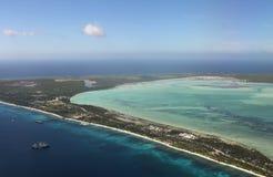 Вид с воздуха острова Kiritimati, Кирибати Стоковые Фотографии RF