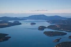 Вид с воздуха островов Сан-Хуана Стоковая Фотография