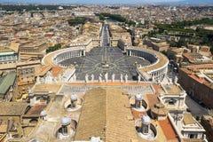 Вид с воздуха от базилики St Peters Стоковая Фотография