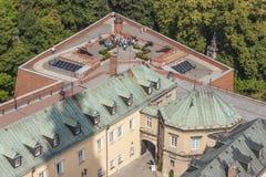 Вид с воздуха от башни колокола - святилища Jasna Gora, Czestochowa, Стоковая Фотография RF