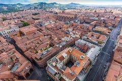 Вид с воздуха от башни Asinelli в болонья, Италии Стоковое Изображение