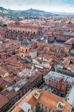 Вид с воздуха от башни Asinelli в болонья, Италии Стоковая Фотография RF