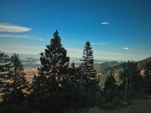 Вид с воздуха от горы уклона, Колорадо-Спрингс, Colorade стоковые фотографии rf