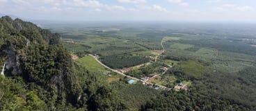 Вид с воздуха от горы Стоковые Изображения