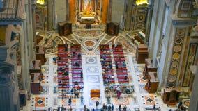 Вид с воздуха от купола базилики St Peters в Риме Стоковые Изображения