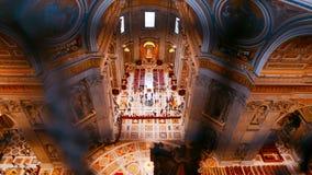 Вид с воздуха от купола базилики St Peters в Риме Стоковое фото RF