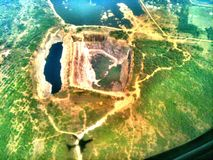 Вид с воздуха от полета Стоковое Изображение
