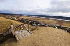 Вид с воздуха от холма в Литве стоковое фото