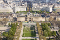 Вид с воздуха от Эйфелева башни на Чемпионе de Марсе - Париже. Стоковое Изображение RF