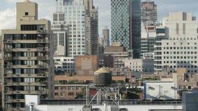 Вид с воздуха офисных зданий небоскребов сток-видео