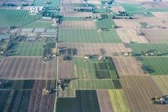 Вид с воздуха долины Po, Италия стоковые фотографии rf