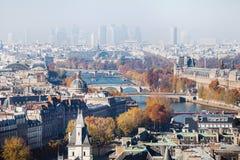 Вид с воздуха Парижа, красивая панорама Стоковые Изображения RF