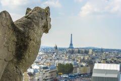 Вид с воздуха Парижа от Нотр-Дам Стоковая Фотография