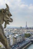 Вид с воздуха Парижа от Нотр-Дам Стоковое Фото