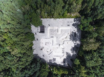 Вид с воздуха парка конька Стоковые Фото