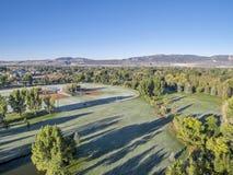 Вид с воздуха парка с заморозком Стоковая Фотография