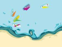 Вид с воздуха парусников иллюстрация вектора