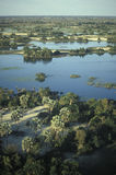 Вид с воздуха, перепад Okavango, Ботсвана стоковые фото
