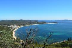 Вид с воздуха порта Stephens NSW залива Анны Стоковые Изображения