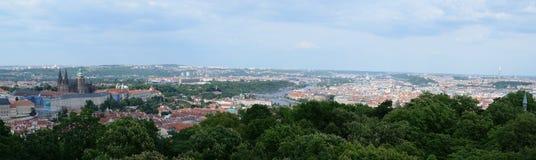 Вид с воздуха Праги от башни Petrin, Праги Стоковые Изображения RF