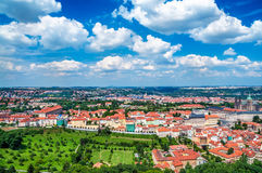 Вид с воздуха Праги стоковые изображения
