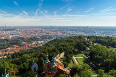 Вид с воздуха Праги Стоковое фото RF