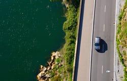 Вид с воздуха прибрежной дороги Стоковое Изображение RF