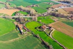 Вид с воздуха пригорода испанского города Vic Испания Стоковое фото RF