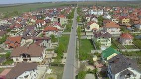 Вид с воздуха пригородной общины спальни в Chisinau, Молдавии акции видеоматериалы