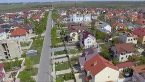 Вид с воздуха пригородной общины спальни в Chisinau, Молдавии сток-видео