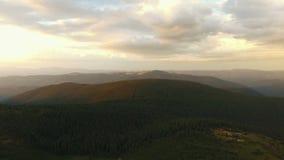 Вид с воздуха прикарпатских гор видеоматериал