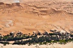 Вид с воздуха пустыни Namib, Намибия, Африка Стоковые Изображения