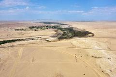 Вид с воздуха пустыни Namib, Намибия, Африка Стоковое фото RF