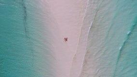 Вид с воздуха пляжа Занзибара Стоковая Фотография RF