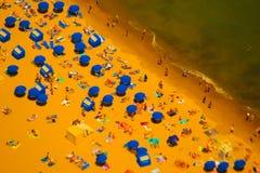 Вид с воздуха пляжа Чикаго Стоковые Фотографии RF
