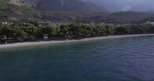 Вид с воздуха пляжа Tucepi видеоматериал