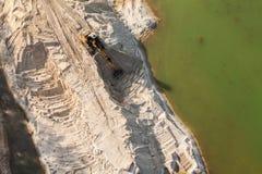 Вид с воздуха работая движенца земли Стоковые Изображения RF