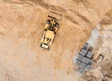 Вид с воздуха работая движенца земли Стоковое Фото
