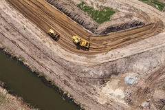 Вид с воздуха работая движенца земли Стоковое фото RF