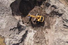 Вид с воздуха работая движенца земли Стоковая Фотография RF